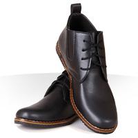 کفش چرم مشکی شیک مردانه