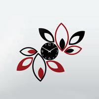 خرید اینترنتی ساعت دیواری طرح گلبرگ
