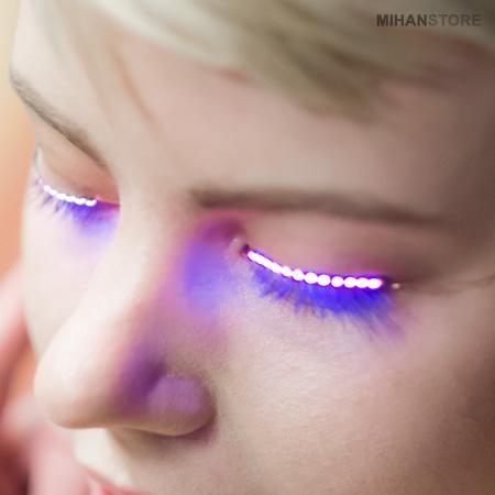 مژه درخشان LED , مژه LED , مژه درخشان ال ای دی , مژه چراغ دار ال ای دی , LED Lashes , مژه چراغ دار ,