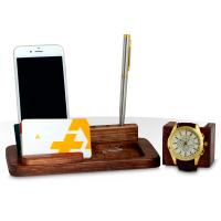 فروش ویژه ست رومیزی چوبی جا موبایلی و ساعت
