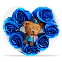 فروش ویژه پکیج کادویی خرس و گل عطری طرح Romantic