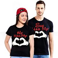 فروش ویژه ست تیشرت مردانه و زنانه Romantic