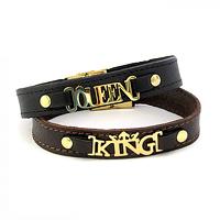 فروش ویژه دستبند چرم طرح King و Queen