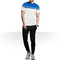 فروش ویژه ست تی شرت و شلوار اسلش Place