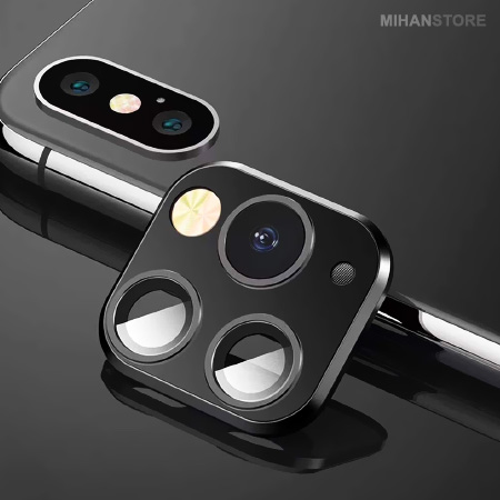 کیت تبدیل لنز آیفون X به آیفون 11 , محافظ لنز آیفون X , دوربین آیفون ده , برچسب تبدیل ایفون x به 11 ,